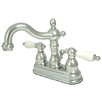 Kingston Brass Heritage Double Handle Centerset Bathroom Faucet with Brass Pop-Up Drain