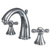 Kingston Brass Naples Double Handle Widespread Bathroom Sink Faucet with Brass Pop-up