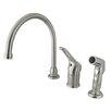 Kingston Brass Wyndham Single Loop Handle Kitchen Faucet with Non-Metallic Side Sprayer