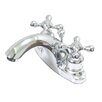 Kingston Brass English Country Double Handle Centerset Bathroom Faucet with ABS Pop-Up Drain