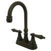 Kingston Brass Governor Double Handle Centerset Bar Faucet