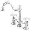 Kingston Brass Restoration Double Handle Deck Mount Kitchen Faucet