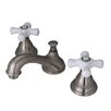 Kingston Brass Royale Double Handle Widespread Bathroom Faucet with Brass Pop-Up Drain