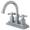 Kingston Brass Millennium Double Handle Centerset Bathroom Faucet