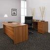 Global Total Office Correlation 2-Piece Standard Desk Office Suite