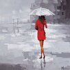 Ren-Wil Red Rain by Olivia Salazar Painting Print on Wrapped Canvas