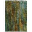 Pantone Universe Prismatic Abstract Green Area Rug