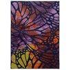Pantone Universe Prismatic Abstract Purple & Orange Area Rug