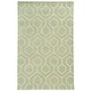 Pantone Universe Optic Green/Ivory Geometric Area Rug