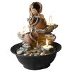 Jeco Inc. Resin Tavolo Luci Mini Pot Tabletop Fountain with Candle