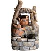 Jeco Inc. Polyresin and Fiberglass Tree Trunk and Pots Water Fountain