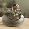 Resin/Fiberglass Lotus Leaf Tabletop Water Fountain - Jeco Inc. Indoor and Outdoor Fountains