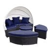 Jeco Inc. All-Weather 4 Piece Daybed Seating Group Set with Cushions