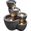 Jeco Inc. Polyresin and Fiberglass Muiti Pot Fountain