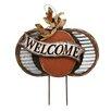Harvest Wooden Pumpkin Garden Stake - Jeco Inc. Garden Statues and Outdoor Accents