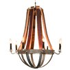 Napa East Collection Wine Barrel Chandelier