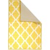 Ottomanson Pink Contemporary Yellow Moroccan Trellis Area Rug