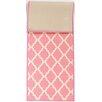 Ottomanson Pink Contemporary Pink Morroccan Trellis Area Rug