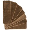 Ottomanson Softy Brown Stair Tread (Set of 7)