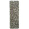 Ottomanson Luxury Gray Solid Shag Area Rug