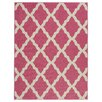 Ottomanson Glamour Machine Woven Hot Pink Area Rug