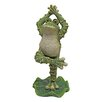 Design Toscano Statue Boogie Down Dancing Frog with Hands Up