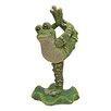 Design Toscano Statue Boogie Down Dancing Frog with Leg Up
