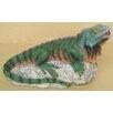 Design Toscano Statue Iguana Lizard on Rock Piped