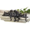 Design Toscano Statue Lazy Daze Knot of Frog
