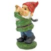 Design Toscano Gnome Playing Golf Statue