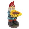 Design Toscano Statue Garden Division Sunflower Sammy Gnome