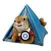 Design Toscano Statue Backyard Camper Squirrel Solar