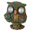 Design Toscano Statue Bright Eyes Owl Family Solar