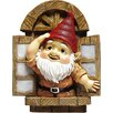 Design Toscano Statue Knothole Gnome Window