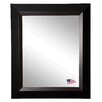 Rayne Mirrors Brown Grain Black Wall Mirror