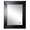 Rayne Mirrors Ava Wide Leather Wall Mirror