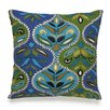 Collier Campbell Pondicherry Embroidered Ogee Decorative Cotton Throw Pillow
