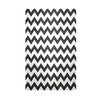e by design Chevron Black Indoor/Outdoor Area Rug