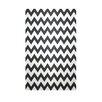 e by design Decorative Chevron Black/White Area Rug