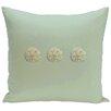 e by design Decorative Three Sanddollars Throw Pillow
