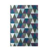 e by design Geometric Blue Indoor/Outdoor Area Rug