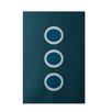 e by design Geometric Teal Indoor/Outdoor Area Rug