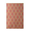 e by design Geometric Coral Indoor/Outdoor Area Rug