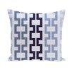 e by design Cuff-Links Geometric Print Outdoor Pillow