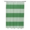 e by design Coastal Calm Stripes Shower Curtain