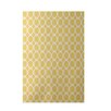 e by design Geometric Yellow Indoor/Outdoor Area Rug