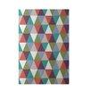 e by design Geometric Green Indoor/Outdoor Area Rug