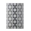 e by design Geometric Light Gray Indoor/Outdoor Area Rug