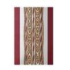 e by design Stripe Rust Indoor/Outdoor Area Rug