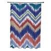 e by design I-Kat U-Dog Chevron Shower Curtain